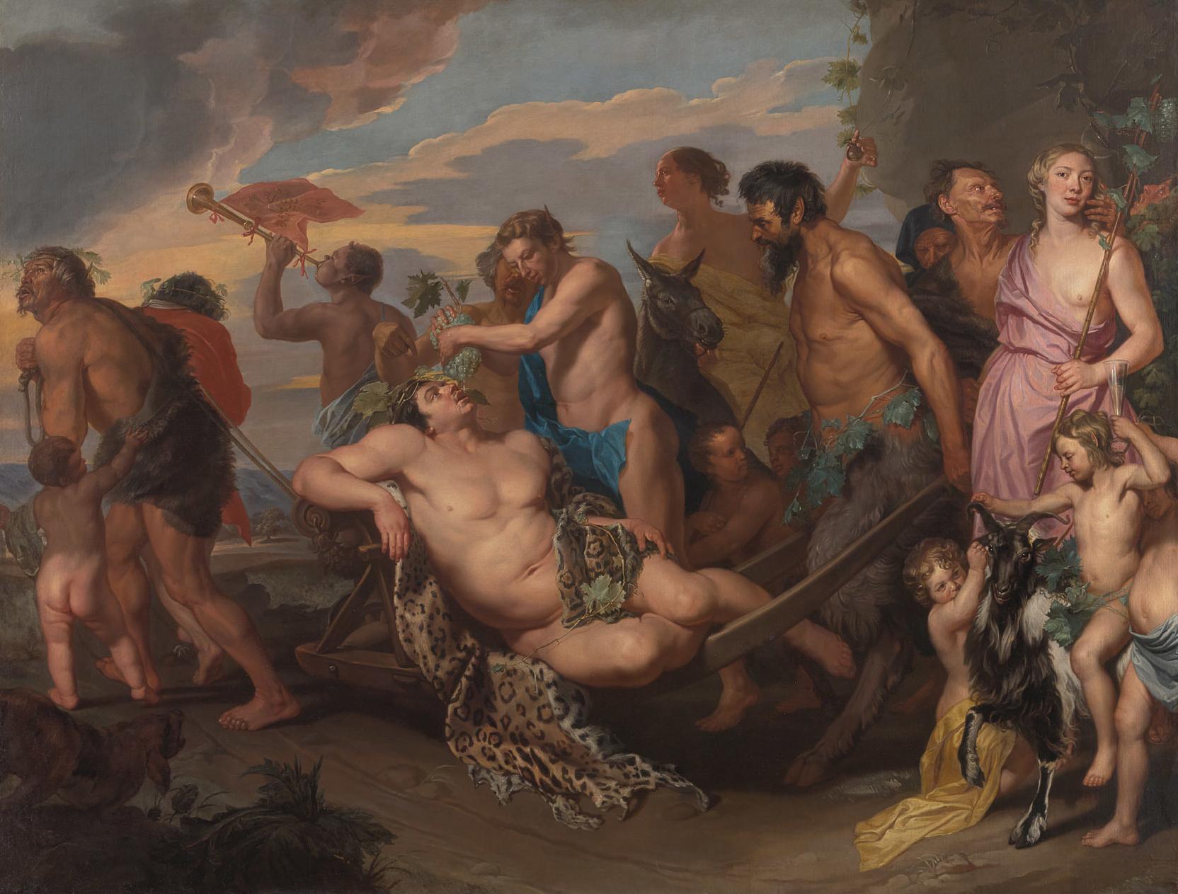 Bacchusstoet / Triomf van Bacchus, Kunsthistorisches Museum, Wenen.