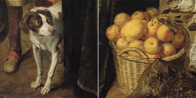 Hond en fruit