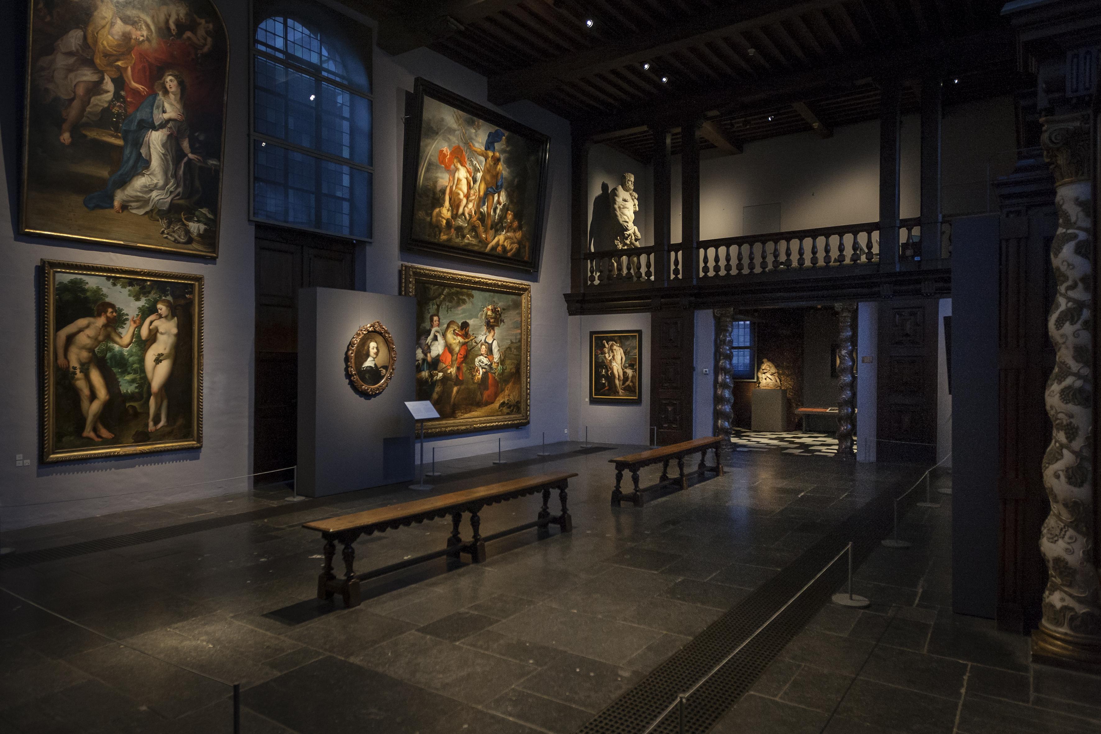 Zicht op de Annunciatie in het groot atelier, foto: Ans Brys.