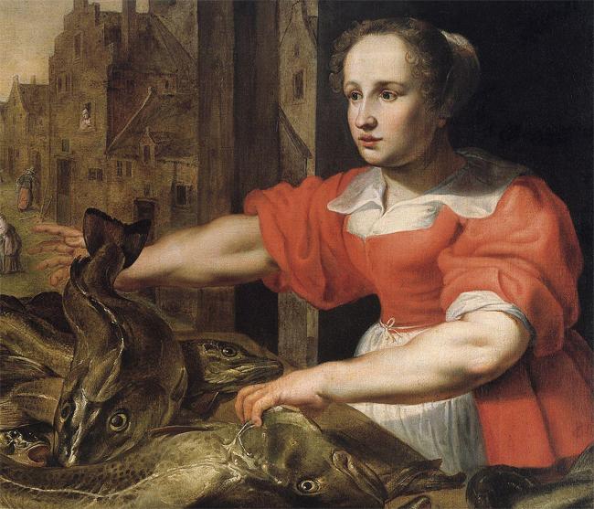 Vrouw toont kieuwen
